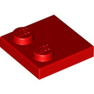 LEGO Red Tile 2 x 2 with 2 Studs (33909)