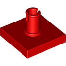 LEGO Red Tile 2 x 2 with Vertical Pin (2460 / 49153)