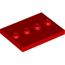 LEGO Red Tile 3 x 4 with Four Studs (17836)