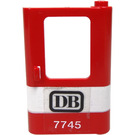 LEGO Red Train Door 1 x 4 x 5 Right with Black 'DB' And White '7745' Sticker