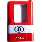 LEGO Red Train Door 1 x 4 x 5 Right with Sticker from Set 7745