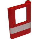 LEGO Red Train Door 1 x 4 x 5 Right with White Stripe