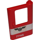 LEGO Red Train Door 1 x 4 x 5 Right with White Stripe with 'VR 7745' Sticker