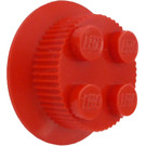 LEGO Red Train Wheel 2 x 2 with Traction Teeth
