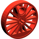 LEGO Red Train Wheel Large Ø30 with Axlehole and Pinhole without Flange (85489)