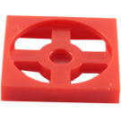 LEGO Red Turntable 2 x 2 Plate Base (3680)