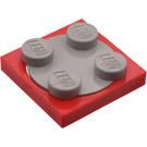 LEGO Turntable 2 x 2 with Medium Stone Gray Top (74340)