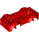 LEGO Red Vehicle Base with Same Color Wheel Holders (11650 / 12622)