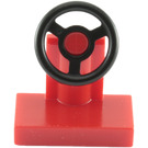 LEGO Red Vehicle Console with Black Steering Wheel (73081)