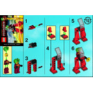 LEGO Red Walker Set 3870 Instructions