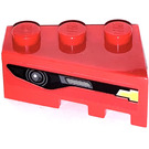 LEGO Red Wedge 3 x 2 Left with Frontgrille right Sticker