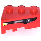 LEGO Red Wedge 3 x 2 Right with Frontgrille left Sticker