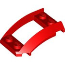 LEGO Red Wedge 4 x 3 Curved with 2 x 2 Cutout (47755)