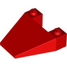 LEGO Red Wedge 4 x 4 without Stud Notches (4858)