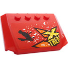 LEGO Red Wedge 4 x 6 Curved with Yellow 'XTREME', Skier and Snow Sticker