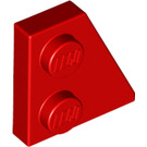 LEGO Red Wedge Plate 2 x 2 (27°) Right (24307)