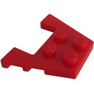 LEGO Red Wedge Plate 3 x 4 with Stud Notches (28842 / 48183)