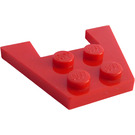 LEGO Red Wedge Plate 3 x 4 without Stud Notches (4859)