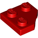 LEGO Red Wedge Plate 45° 2 x 2 (26601)