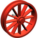 LEGO Red Wheel 8 x 35 with 12 Spokes (Complete)