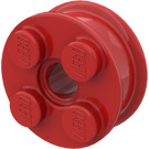 LEGO Red Wheel Rim 10 x 17.4 with 4 Studs and Technic Peghole (6248)