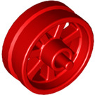 LEGO Red Wheel Rim Ø14.6 x 6 with Spokes and Stub Axles (50862)