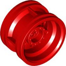 LEGO Red Wheel Rim Ø30 x 20 with No Pinholes, with Reinforced Rim (56145)