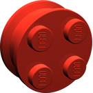 LEGO Red Wheel Rim 8 x 18 with 4 Studs and Cylindrical Axle (7039)