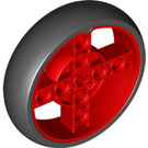 LEGO Red Wheel with Black Tyre (39367)