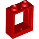 LEGO Red Window 1 x 2 x 2 (60592)