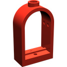 LEGO Red Window 1 x 2 x 2.667 with Rounded Top (30044)