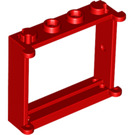 LEGO Red Window 1 x 4 x 3 with Shutter Tabs (3853)