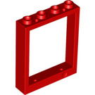 LEGO Red Window 1 x 4 x 4 (6154)
