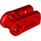 LEGO Red Wire Clip with Cross Hole (49283)