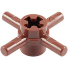 LEGO Reddish Brown Bar 1L Quadruple with Axlehole Hub (48723)
