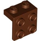 LEGO Reddish Brown Bracket 1 x 2 - 2 x 2 (21712 / 92411)