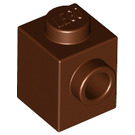 LEGO Reddish Brown Brick 1 x 1 with Stud on One Side (87087)