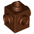 LEGO Reddish Brown Brick 1 x 1 with Studs on Four Sides (4733)