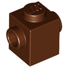 LEGO Reddish Brown Brick 1 x 1 with Studs on Two Opposite Sides (47905)
