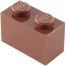 LEGO Reddish Brown Brick 1 x 2 (3004 / 93792)