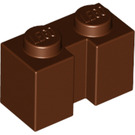 LEGO Reddish Brown Brick 1 x 2 with Groove (4216)