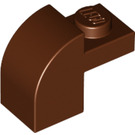 LEGO Reddish Brown Brick 1 x 2 x 1.33 with Curved Top (6091 / 32807)