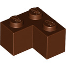 LEGO Reddish Brown Brick 2 x 2 Corner (2357)