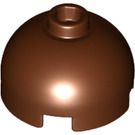 LEGO Reddish Brown Brick 2 x 2 Round with Dome Top (Hollow Stud with Bottom Axle Holder x Shape + Orientation) (30367)