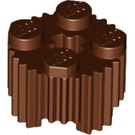 LEGO Reddish Brown Brick 2 x 2 Round with Grille (92947)