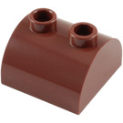 LEGO Reddish Brown Brick 2 x 2 with Curved Top and 2 Studs on Top (30165)