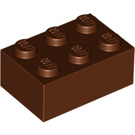 LEGO Reddish Brown Brick 2 x 3 (3002)