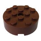 LEGO Reddish Brown Brick 4 x 4 Round with Hole (87081)