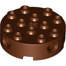 LEGO Reddish Brown Brick 4 x 4 Round with Holes (6222)