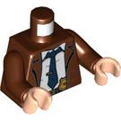 LEGO Reddish Brown Commissioner Gordon Minifig Torso (76382)